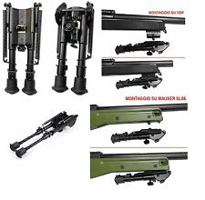 BIPIEDE HARRIS SOFTAIR IN METALLO UNIVERSALE Tactical 6-9 inch Bipod SAS 8770