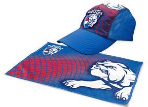 Western Bulldogs Sports Pack   Gym Towel & Cap   AFL Aussie Rules