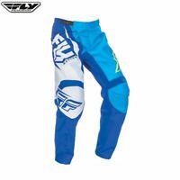 Fly 2017 F-16 MX Motocross Adult Enduro Off Road Pants Trouser - Blue-Hi-Viz