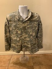 ACU Army Military Digital Camouflage Jacket Zipper Men Size Small Short