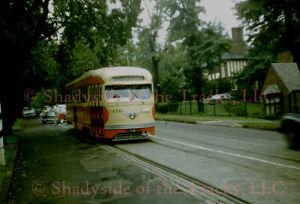 Pittsburgh Railways PRCo PCC Streetcar #1450 Original Slide Last Route 60 Car!