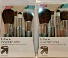 2 Pack Full Face Mineral 4 pc Brush Set Powder/Concealer/Shadow/B lush 0039