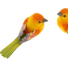 2pcs Artificial Small Fake Decorative Foam Birds Craft Garden Decor