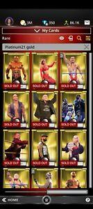 Topps WWE SLAM 2021 Topps Platinum Gold Base Carmella Hit Row Shotzi Tegan etc.