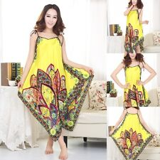 Ladies Satin Pyjama Chemise Nightdress Sleepwear Oriental Kaftan Nightwear