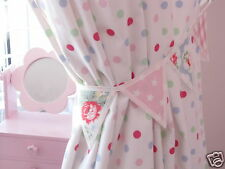 PAIR OF CATH KIDSTON FABRIC MINI BUNTING CURTAIN TIE BACKS: Trailing Floral