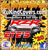 Raptor Yamaha RED EYES HeadLight Covers RuKind NEW  YAMAHA Atv,Utv,MX