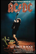 AC/DC  * Let There Be Rock *  USA Movie Poster 1980  12x18