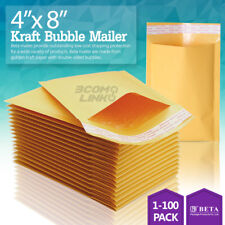 4x8 (4x7) Kraft Self Seal Bubble Mailer Padded Envelope, #000 25,50,100,500