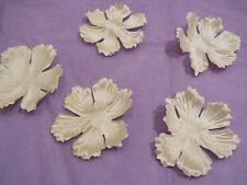 5pcs Champagne Fabric flower petals bridal wedding hair accessory diy in 5.5cm