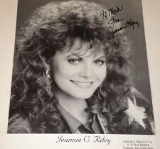 "Jeannie C. Riley / 7 1/2 X 9 3/4"" B&W Autographed Photo"