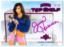 "JAIME HAMMER ""PINK TOP SHELF AUTOGRAPH CARD #20/25"" BENCHWARMER HOCKEY 2014"