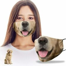 Funny 3D Golden Retriever Dog Mom Dad Reusable Washable Face Mask Women Men