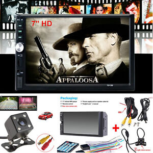 """7"""" 2 Din HD Touch Screen Car Video MP5 Stereo Radio Audio Player+170° Camera 16G"""