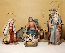 Spanish Ceramic Nativity Set. Multisized, Multicolored, Artesanal Look