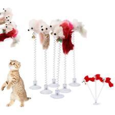 Lustige Katze Spielzeug mehrfarbig Sucker mit Frühling Plüsch Maus Pet Spielzeug