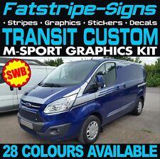 Ford Transit Custom SWB M Sport Van Gráficos Pegatinas Rayas MS-RT M-Sport 2.2
