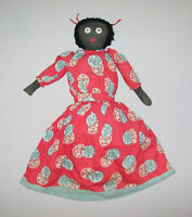 "Vtg Ca 1950s Folk Art Topsy Turvy Cloth Rag Doll Antique 16"" Original Clothing"