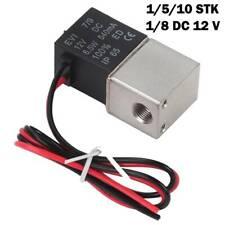"""1-10x 2-Wege Magnetventil DC12V 1/8"""" Electric Solenoid Valve N/C für Wasser Luft"""