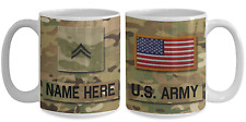 US Army Personalized Mug - Corporal (E4) US Army Gift for Dad/Mom/Son/Daughter