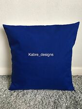 """NEW 16"""" PLAIN ROYAL BLUE CUSHION COVER PILLOW BED SOFA MORE COLOURS SIZES AVAIL"""