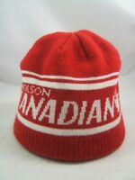 Molson Canadian Hockey Winter Hat Red Toque Beanie Stocking Cap