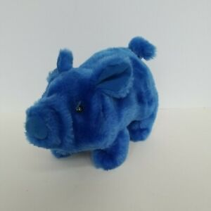Iwaya Corp Walking Oinking 1986 Pig Preowned Blue- NOT WORKING