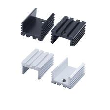 Aluminium Heat Sink Power Transistor Heatsink Cooler Black White Set 201510mm