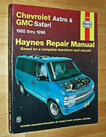 Haynes Automotive Repair Manual Chevrolet Astro GMC Safari 1985-98 Paperback