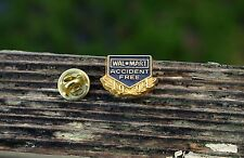 Wal-Mart 1994 Accident Free Employee Gold Tone Metal Lapel Pin Pinback