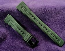 NOS Casio CA-18MS Black PVC 18mm Watch band