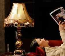European Style Vintage Antique Elegant Resin Table Lamp Bedside Desk Light Home