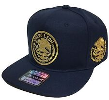 NUEVO LEON MEXICO HAT NAVY WITH 2 LOGOS SNAP BACK LOGO FEDERAL