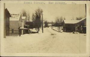 New Albany PA Front St. c1910 Real Photo Postcard