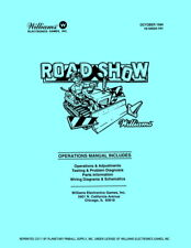 Red/Ted Road Show Pinball Operations/Repair Manual RoadShow Williams Coin PPS WD