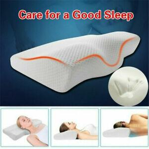 Slow Rebound Memory Foam Pillow Cervical Contour Pillow Support For Neck E2W5