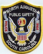 NORTH AUGUSTA SOUTH CAROLINA SC Yellow Border PUBLIC SAFETY FIRE POLICE PATCH