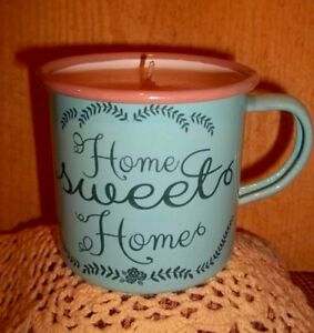 """Nellie's Acres """"Home Sweet Home"""" Enamelware 10 oz Soy Candle.So Cute!"""