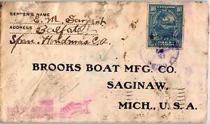 Honduras Postal History: LOT #1 1912 10c RETURN HS LA CEIBA - SAGINAW MI $$$