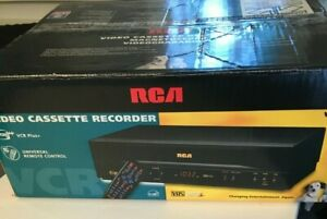 RCA VR352 VCR Plus + Video Cassette Recorder VCR With Remote New In Box!!!!!!!!!