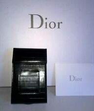 CHRISTIAN DIOR PLYING CARD,CIGARETTE,BUSINESS CARD CASE BLACK LEATHER ITALY