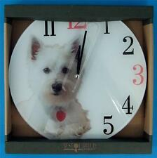NatureCraft Best of Breed Highland Terrier Battery Operated Wall Clock ~ New