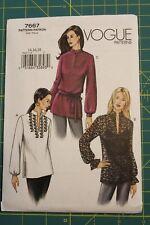 Vogue Pattern #7667 Size 14-16-18 Misses/Misses Petite Tunics /top loose-fitting