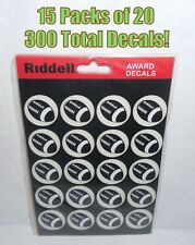 New Riddell 15 Packs of 20 Football Award Helmet Decal 300 Stickers Total