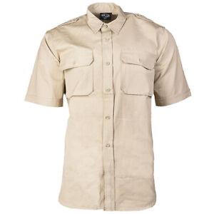 TROPENHEMD kurzarm khaki beige S-3XL Safarihemd sand halbarm Ripstop Baumwolle