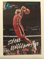 2019-20 Panini Chronicles ZION WILLIAMSON Luminance TEAL #143 RC SP Pelicans