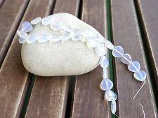 Mondstein Opalith HERZ Perlen Opalglas 1 Strang Schmuck basteln Liebe Herzen DIY
