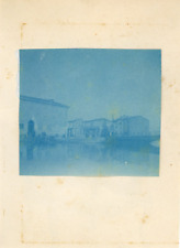 Venezia Vintage print.  cyanotype  7x8  Circa 1890