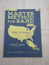 MASTER METHOD FOR BAND - LESSON BOOK 1 - F HORN - by CHARLES S. PETERS