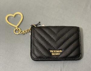 NWT Victorias Secret Faux Leather Key Chain ID & Card Holder